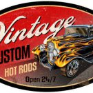 HOT ROD VINTAGE CUSTOM HEAVY METAL SIGN HOME GARAGE DECOR