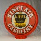 SINCLAIR ETHYL GAS PUMP GLOBE GLASS LENSES gas oil filling station
