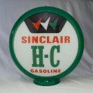 SINCLAIR HC THREE CHECKS GAS PUMP GLOBE GLASS LENSES gas oil filling station