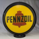 PENNZOIL GAS PUMP GLOBE GLASS LENSES gas oil filling station