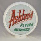 ASHLAND FLYING OCTANES GAS PUMP GLOBE GLASS LENSES oil filling station DECOR
