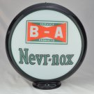 B A NEVR-NOX GAS PUMP GLOBE GLASS LENSES oil filling station DECOR