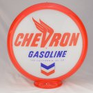 CHEVRON GASOLINE GAS PUMP GLOBE GLASS LENSES oil filling station DECOR