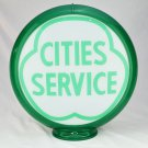 CITIES SERVICE PUMP GLOBE GLASS LENSES oil filling station DECOR