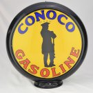 CONOCO GASOLINE GAS PUMP GLOBE GLASS LENSES oil filling station DECOR