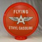 FLYING A ETHYL GAS PUMP GLOBE GLASS LENSES oil filling station DECOR