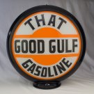 THAT GOOD GULF GASOLINE GAS PUMP GLOBE GLASS LENSES oil filling station DECOR