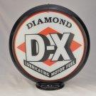 DIAMOND D-X GAS PUMP GLOBE GLASS LENSES oil filling station DECOR