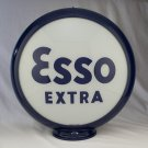 ESSO EXTRA BLOCK GAS PUMP GLOBE GLASS LENSES oil filling station DECOR