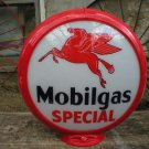 MOBILGAS SPECIAL GAS PUMP GLOBE GLASS LENSES oil filling station DECOR