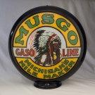 MUSGO GASOLINE GAS PUMP GLOBE GLASS LENSES oil filling station DECOR