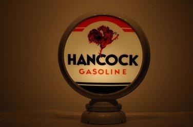 HANCOCK GASOLINE GAS PUMP GLOBE GLASS LENSES oil filling station DECOR