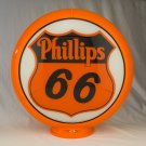 PHILLIPS 66 GAS PUMP GLOBE GLASS LENSES oil filling station DECOR