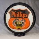 PHILLIPS 66 ETHYL SHIELD GAS PUMP GLOBE GLASS LENSES oil filling station DECOR
