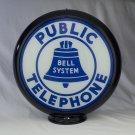 PUBLIC TELEPHONE GAS PUMP GLOBE GLASS LENSES oil filling station DECOR