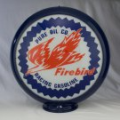 PURE FIREBIRD GAS PUMP GLOBE GLASS LENSES oil filling station DECOR