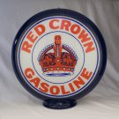 RED CROWN GASOLINE GAS PUMP GLOBE GLASS LENSES oil filling station DECOR