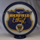 RICHFIELD ETHYL GAS PUMP GLOBE GLASS LENSES oil filling station DECOR
