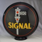 SIGNAL GAS PUMP GLOBE GLASS LENSES oil filling station DECOR