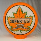 CANADA SUPERTEST GAS PUMP GLOBE GLASS LENSES oil filling station DECOR