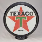 TEXACO WHITE T-STAR GAS PUMP GLOBE GLASS LENSES oil filling station DECOR