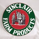SINCLAIR FARM PRODUCTS ROUND METAL SIGN 12""