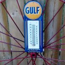GULF THERMOMETER HEAVY METAL OLD LOOK