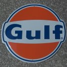 "GULF OIL GASOLINE 60'S ERA STYLE 24"" ROUND METAL SIGN"