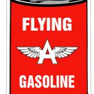 FLYING A GASOLINE MOTOR OIL CAN HEAVY METAL SIGN