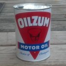 OILZUM MOTOR OIL METAL CAN CHOICE OF CHAMPIONS 32 FL. OZ