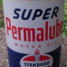 Standard Motor Oil Can Super Permalube New Empty