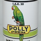POLLY PREM Metal Oil Can NEW empty