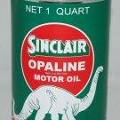 SINCLAIR OPALINE METAL OIL CAN 32 FLUID OZ. NEW EMPTY