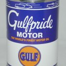 GULFPRIDE METAL MOTOR OIL CAN NEW EMPTY