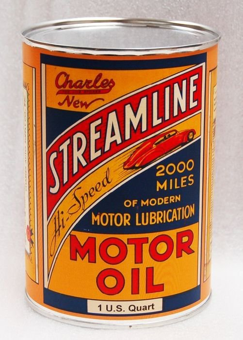 STREAMLINE METAL OIL CAN 32 FL. OZ