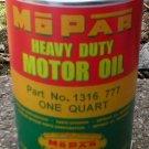 MOPAR HEAVY DUTY MOTOR OIL CAN NEW EMPTY