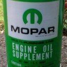 MOPAR ENGINE OIL SUPPLEMENT METAL CAN NEW EMPTY