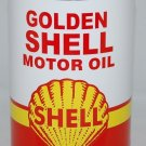Golden Shell Metal Oil Can Paper Label 32 Fluid Oz.