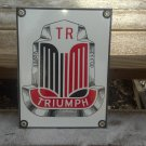 TRIUMPH PORCELAIN COATED SIGN RED