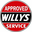 """WILLYS APPROVED SERVICE disk sign 12"""""""