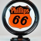 PHILLIPS 66 MINI Gas Pump Globe lighted BLACK BODY Gasoline Sign