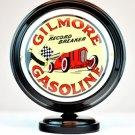 GILMORE GASOLINE MINI Gas Pump Globe lighted BLACK BODY Gasoline Sign