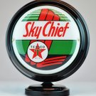 TEXACO SKYCHIEF MINI Gas Pump Globe lighted BLACK BODY Gasoline Sign