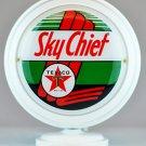 TEXACO SKYCHIEF MINI Gas Pump Globe lighted WHITE BODY Gasoline Sign