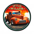 WILD WILLYS auto Round Sign 28