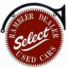 """Rambler Dealer Select Used Cars Heavy Metal Round Sign 22"""""""