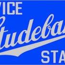 "Studebaker Baked Enamel Sign Heavy 20 Gauge Steel Blue Sign 18"""