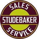 """Studebaker Heavy Steel Baked Enamel Sign 22"""""""