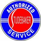 "Studebaker Heavy Steel Baked Enamel Service Disk Sign 18"""