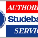 Studebaker Sign Authorized Service Heavy Baked Enamel Steel 18""